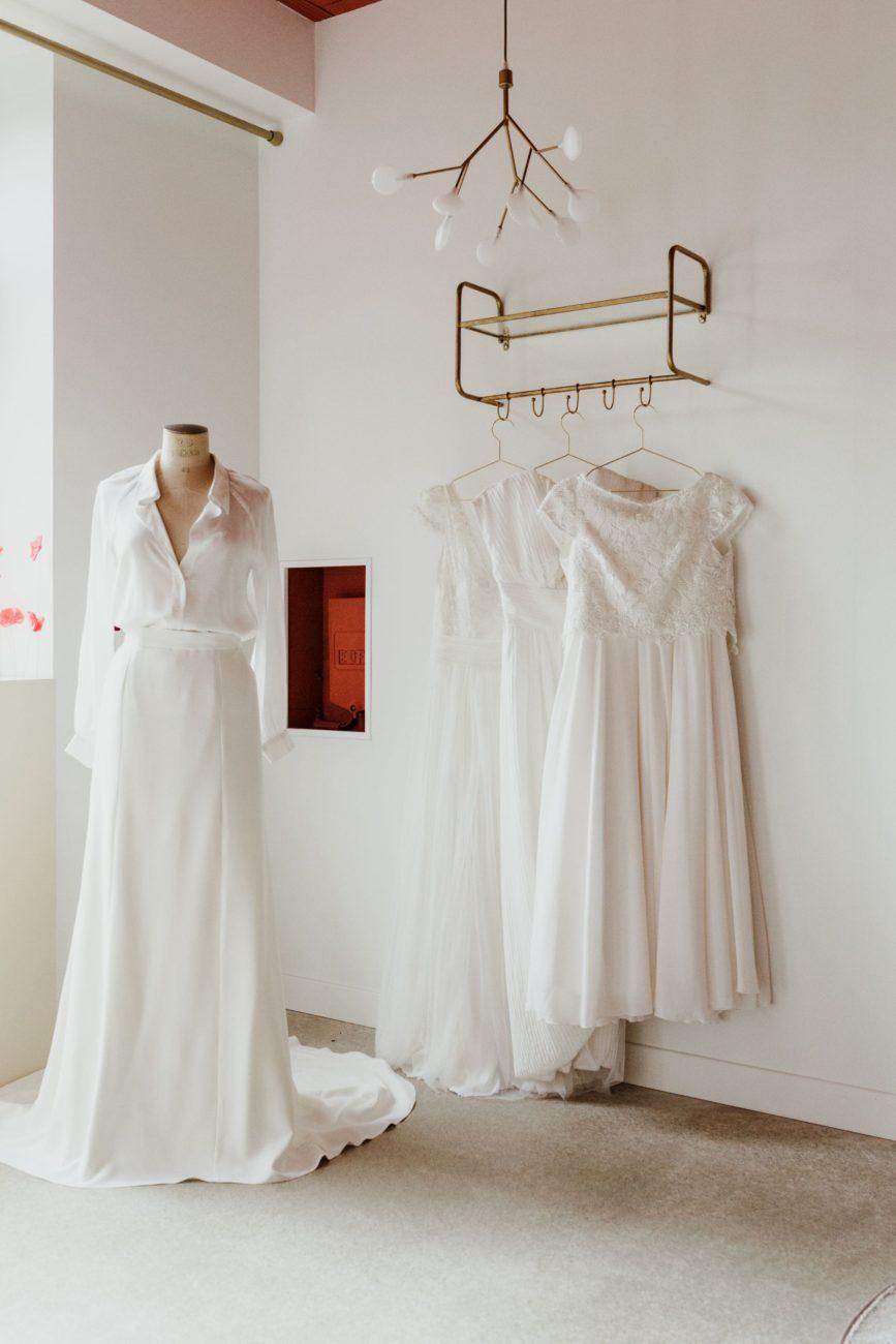 Essayages de robes de mariée avec la créatrice Julie Fabrici